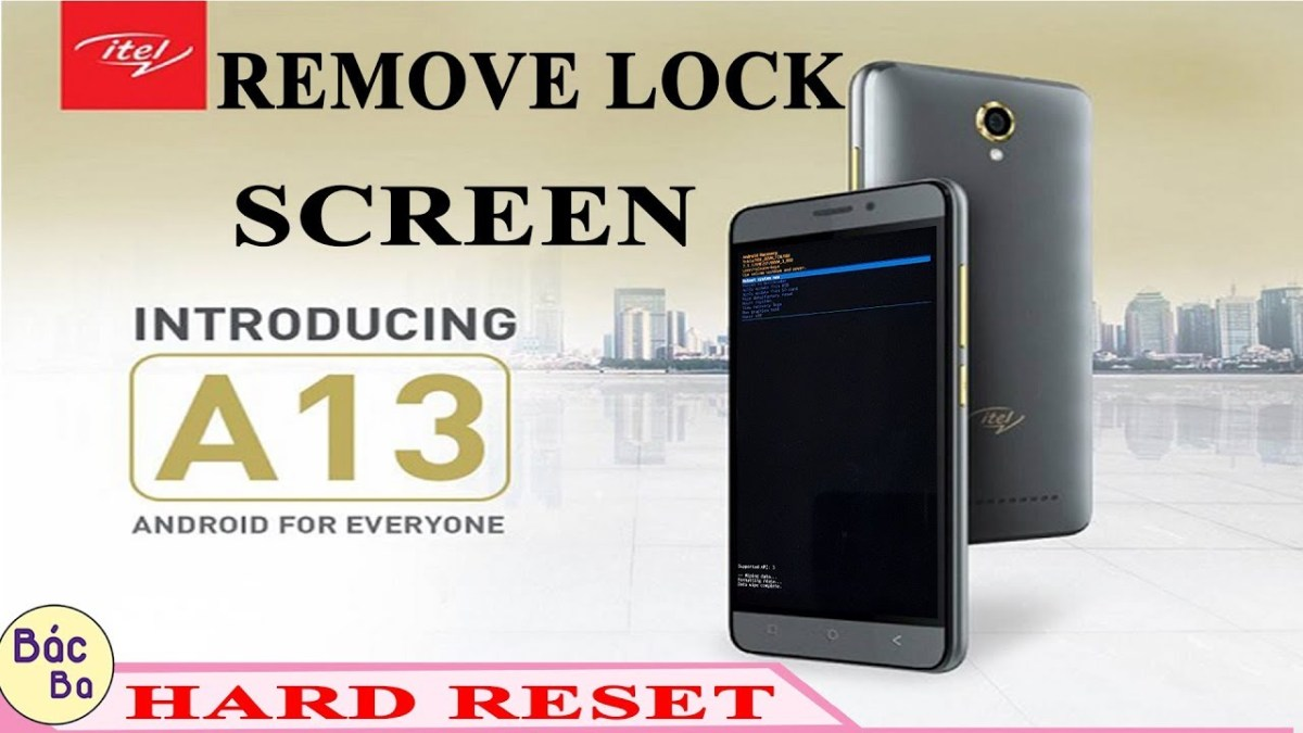 Hard Reset Itel A13 Remove Pattern | Pin | Password